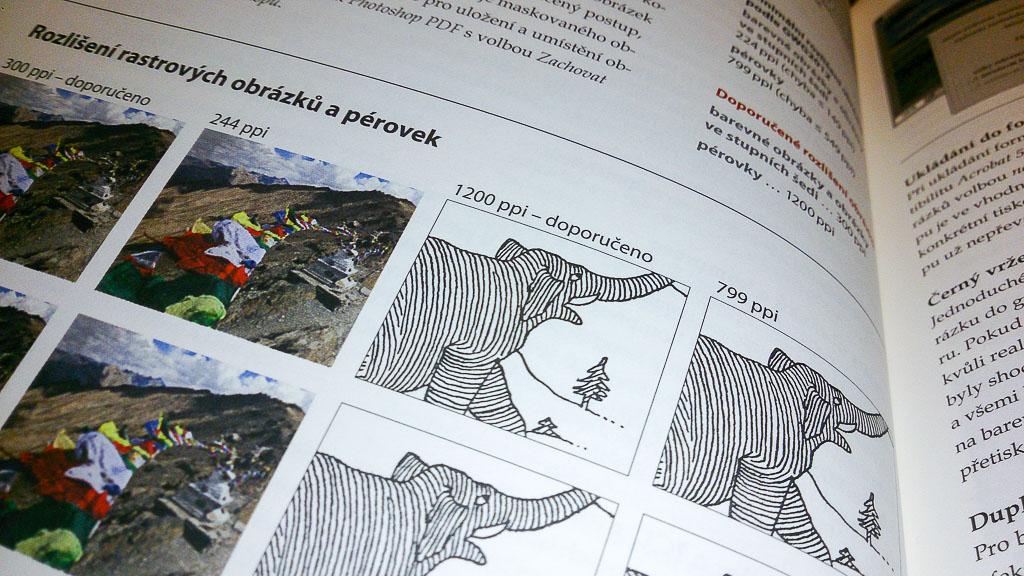 Ukázka knihy PDF/X-1a + PDF/X-4 – rozlišení