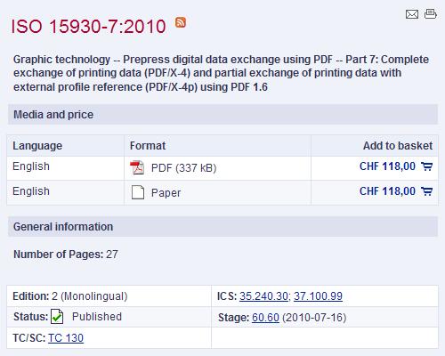 ISO 15930-7:2010 (PDF/X-4:2010) již lze zakoupit v elektronickém obchodě ISO